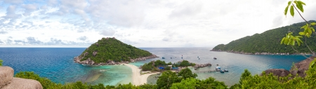 Viewpoint of Nang Yuan island at the southern of Thailand photo