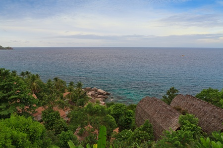 spectacular view to a paradise bay , koh tao , thailand Stock Photo - 14523967