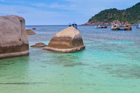 andscape of nangyuan island of the clear ocean, clear sky , and activity Stock Photo - 14523946