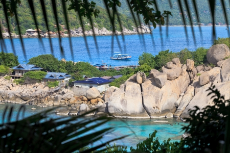 nangyuan: Spectacular view to a paradise bay ,  Koh Nangyuan , Thailand