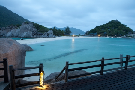 Spectacular view to a paradise bay ,  Koh Nangyuan , Thailand photo
