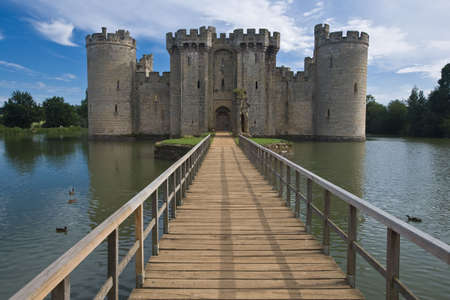 king edward: Bodiam castle and moat Editorial