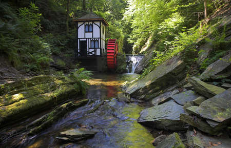 dappled: Waterwheel at Groudle Glen in the Isle of Man
