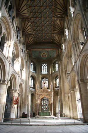vicar: Interior view of peterborough cathdral