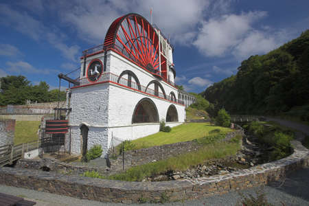 Laxey water wheel in the Isle of Man Stock Photo