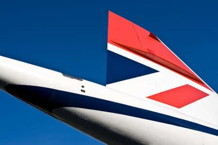 are thrust: Concorde tail fin