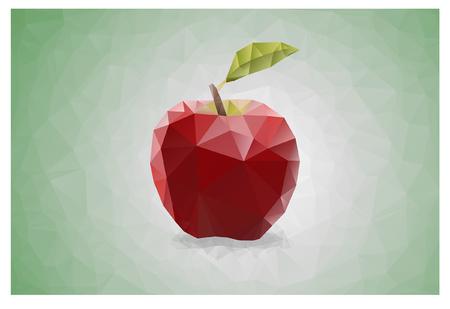 Geometric Triangle polygonal red apple