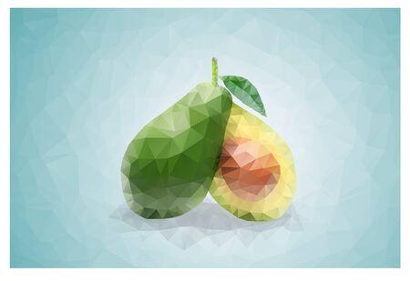 Geometric Triangle polygonal avocado