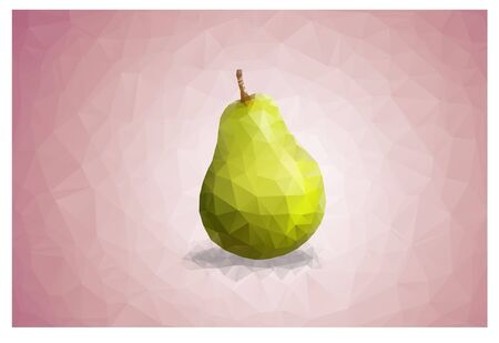 Geometric Triangle polygonal pear
