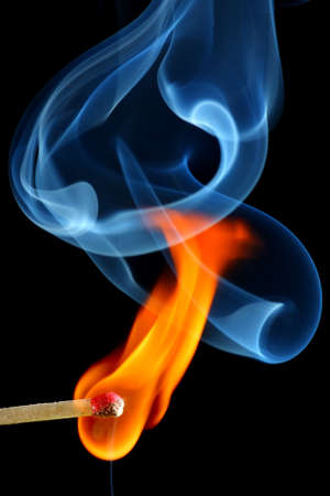matches: Match bursting to flame Stock Photo