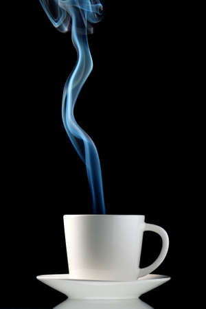 steaming coffee: Steaming hot coffee