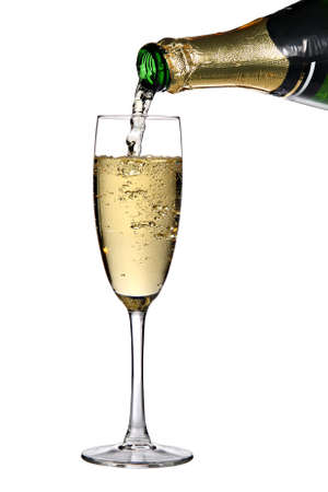 Pouring champagne into glass