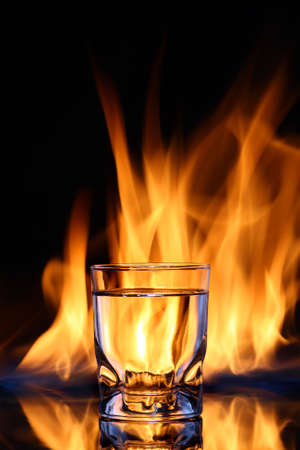 engulfed: Glass of fire water