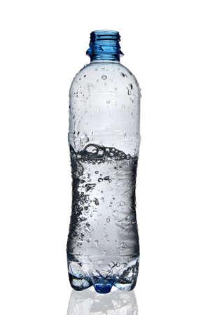 Moving water in bottle Standard-Bild