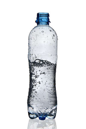 Moving water in bottle Stock Photo