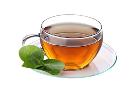 Cup of tea, isolated on a white background.  Standard-Bild