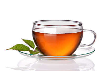 whitern: Cup of tea, isolated on a white background.  Stock Photo