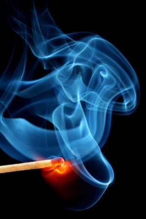 Matchstick bursting to flame     photo