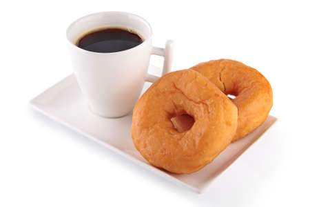 Cup of coffee with donuts photo