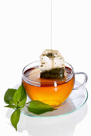 Cup of tea with teabag (concept)