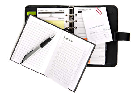 things to do: Ring binder organizer with notes and things to do list  Stock Photo