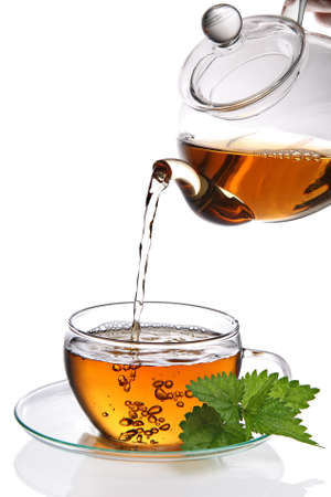 brown cup tea: Cup of tea
