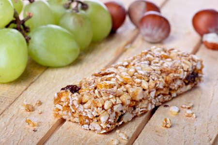 cereales: Concepto de barra de cereales
