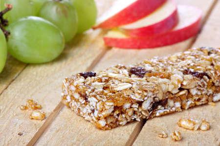 barra de cereal: Concepto de barra de cereales