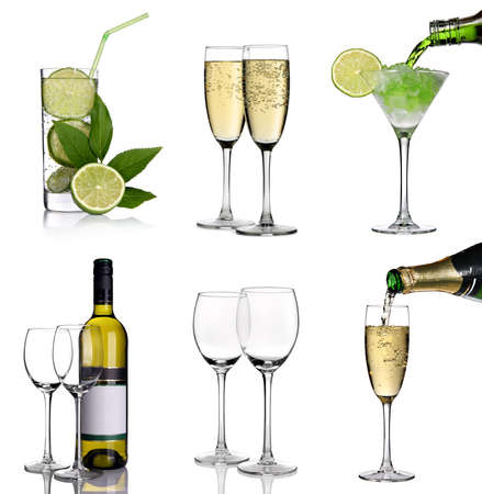Alcohol collage Stock Photo - 9356199