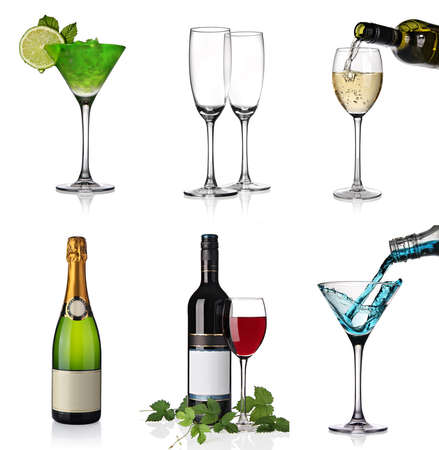 Alcohol collage photo