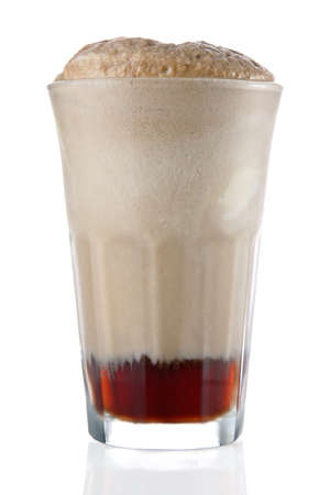 Root beer or cola float