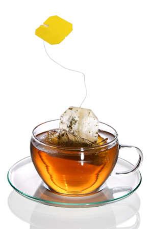 Tea with teabag Standard-Bild