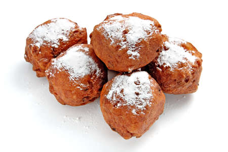 Oliebollen, dutch traditional new year pastry photo