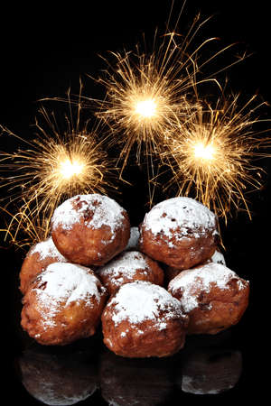 Oliebollen, dutch traditional new year pastry