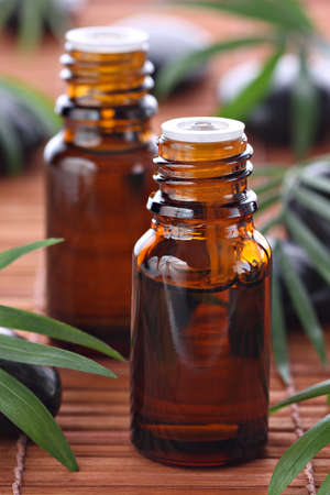 Aromatherapy, essential oil bottles photo