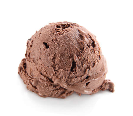 ice cream scoop: Chocolate ice cream scoop Stock Photo