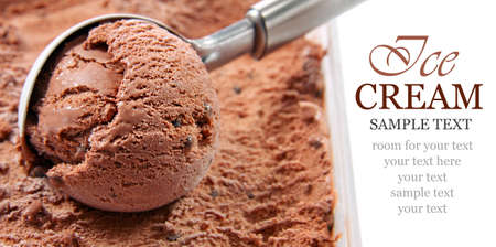Chocolate ice cream scoop Stock Photo - 13149286
