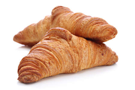 french pastry: Croissants, traditional French pastry