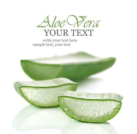 aloe vera: Fresh cut Aloe Vera slices Stock Photo