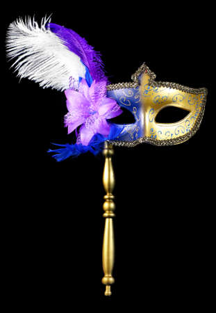 mardi gras mask: Masquerade mardi gras mask isolated on a black background