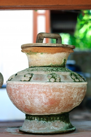 Water container made ​​of clay  photo