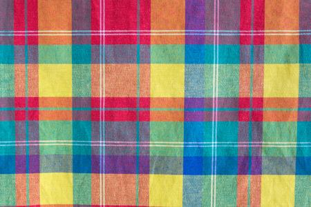 tela algodon: textura colorida a cuadros tela. Fondo de tela