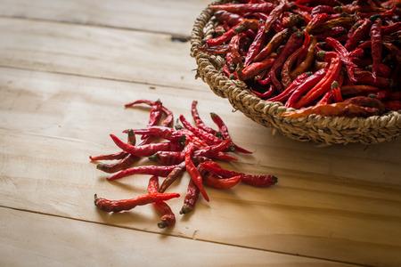 epices: épices séchées - Red Hot Chilli Pepper piments Banque d'images