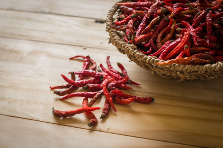 chilli: spices - dried red hot chilli chillies pepper Stock Photo