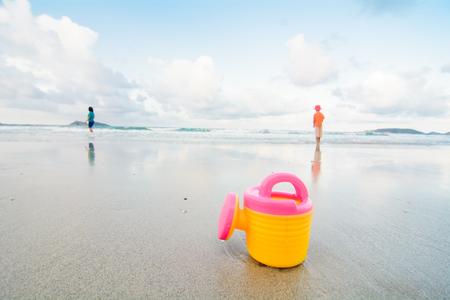 beach toys: beach toys on sand