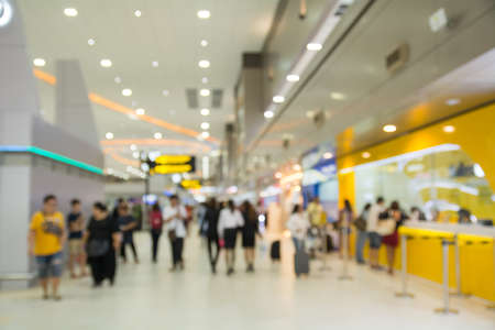 Blur background : Terminal Departure Check-in at airport