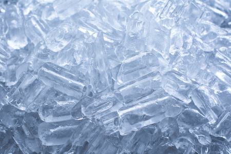close up ice tube in the bucket Stock Photo