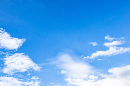 Beautiful white clouds in the blue sky on a clear day. Stock Photo