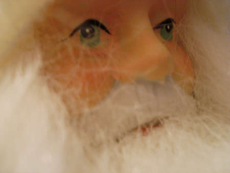 grandpapa: Face of a figure of Santa Claus Stock Photo