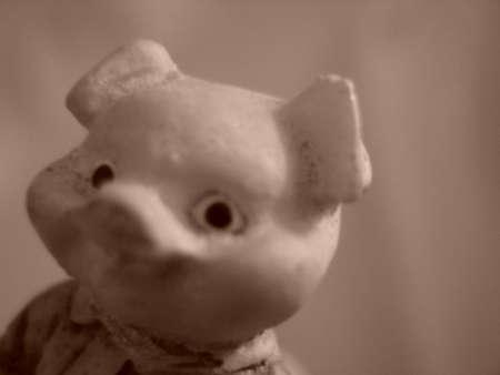 babyhood: Figure image of a ceramic pig Stock Photo